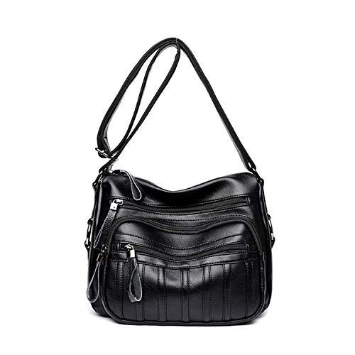 Shoulder Pockets Cross Women's Black Multi PU Body NOTAG Bag Bag Leather Casual Handbag xCaTwfq8q