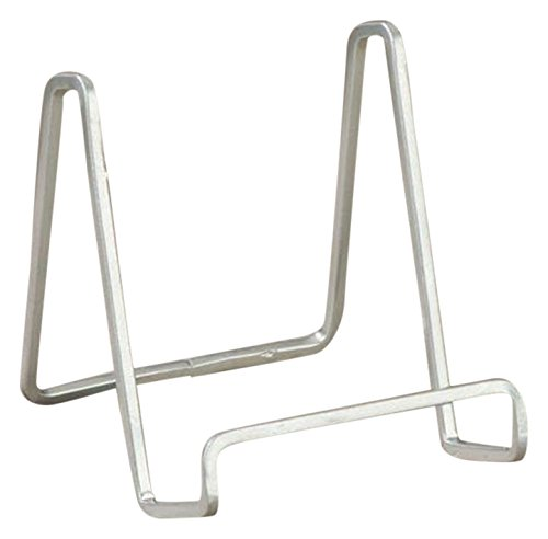 TRIPAR 50214 4.66 Inch Silver Color Metal Square Wire Stand