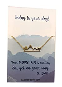 Gold Mountain Necklace - Today is Your Day Graduation Necklace, 16