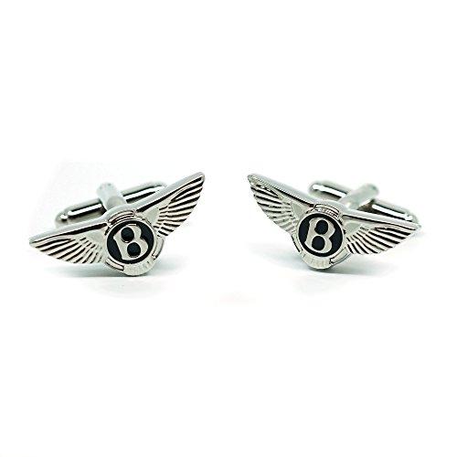 Teri's Boutique Bentley Logo Luxury Car Brand Cufflinks Pair Men's Fashion Jewelry w/ Gift Box