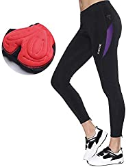 Santic Women's Cycling Bicycle Pants Long Bike Tights Padded MTB 4D Cooldmax Breath