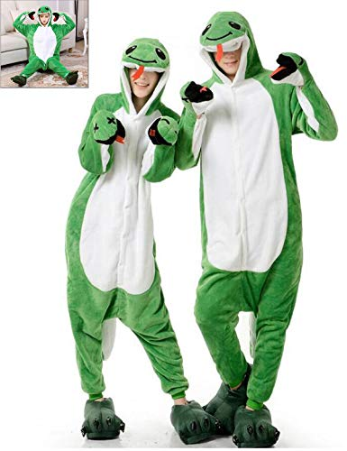 (Adult Onesies Snake Pajamas Animal One Piece Cosplay Halloween Xmas Costume for Women)