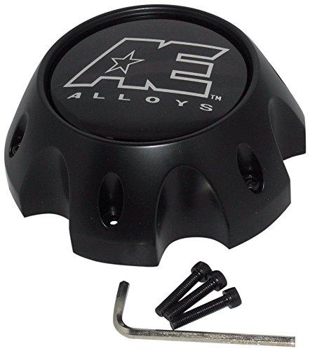 American Eagle Alloy 3312 3312-08 Flat Matte Black Wheel 6 Lug Center Cap