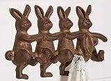 Vintage Rustic Inspired Rabbits Wall Hook