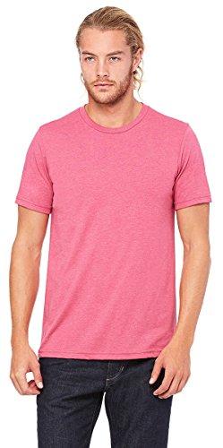 Bella + Canvas Unisex Jersey Short-Sleeve T-Shirt, 3XL, HTHR RASPBERRY Bella Short Sleeve T-shirt