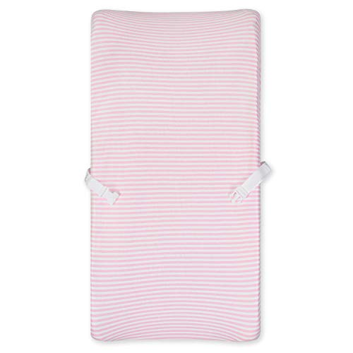 Gerber Organic Changing Pad Cover, Pink Stripe, One Size