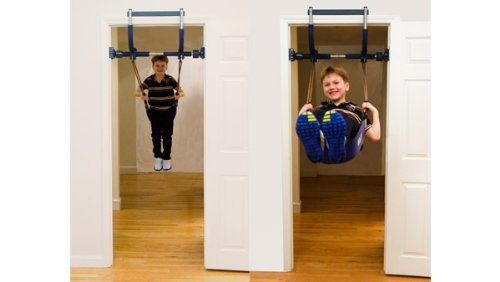 Gym1 Indoor Playground with Indoor Swing, Plastic Rings, and Climbing Ladder by Gym1 (Image #2)