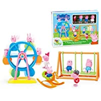 Peppa Pig Ferris Wheel George Family Toys Doll Peppapig Amusement Park DIY Play House Toy Action Figures Toys for Children Gifts