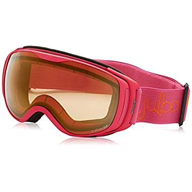 Julbo Women's Luna Goggles with Zebra Lens, Fuchsia, Medium