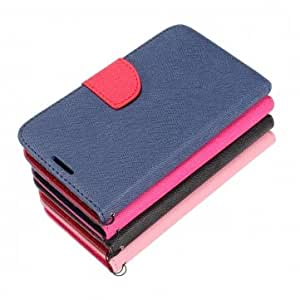 PU Leather Card Wallet Stand Case For Samsung Galaxy Note 3 N9000 --- Color:Dark Blue