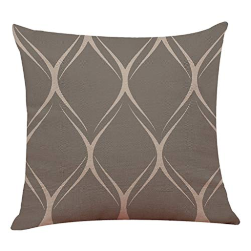 Weiliru Stripe Throw Pillow Cushion Cover, Modern Fractal Look with Vertical Line Pattern Soft Colors Illustration, Decorative Square Accent Pillow Case, 45cmx45cm by Weiliru (Image #2)