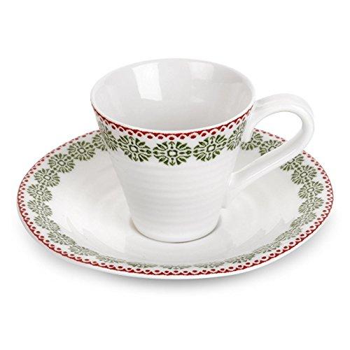 Portmeirion Sophie Conran Christmas Espresso Cup & Saucer Snowflake -