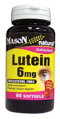Mason Vitamins Lutein 6 Mg Softgels, 60-Count Bottles
