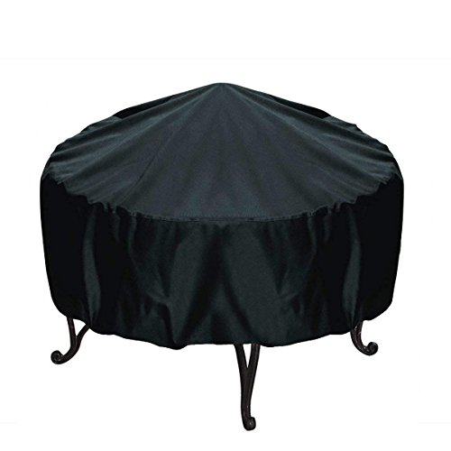 Noa Store 30-inch Round Fire Pit Cover, Black For Sale
