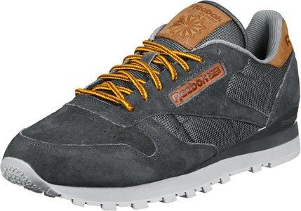 Uomo Reebok Basse Classic Grigio Marrone Scarpe da Ginnastica Leather OL 1Y0xqwr1
