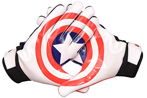 Lycos Gears NFL American Football Receiver Gloves (Captain America) (Adult-X Large)