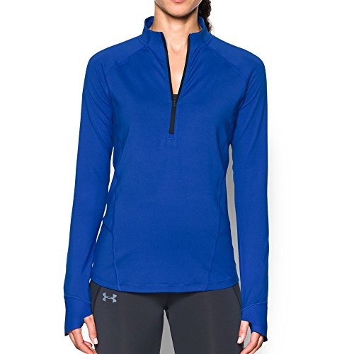 Under Armour Women's Run True 1/2 Zip,Lapis Blue (984)/Reflective, X-Small by Under Armour (Image #1)
