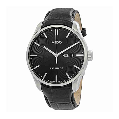 Mido Men's Belluna II 42.5mm Black Leather Band Steel Case Automatic Analog Watch M024.630.16.051.00