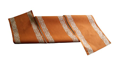 Mary & Humphrys camino de mesa de algodón pesado, color naranja