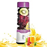 Kuty 350ml Portable Blender, Protein Shaker Bottle, Blender, Baby Nutritional Food, Smoothies Mix, Milk-Shake and Fruit Juice, Rechargeable (Purple)