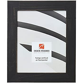Craig Frames Jasper Picture Frame, 16 x 24 Inch, Country Charcoal Black