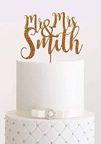 Amazon Com Custom Wedding Cake Topper Rose Gold Personalized Cake