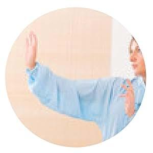 alfombrilla de ratón Mujer que hace ejercicio de tai chi gong haciendo qi - ronda - 20cm