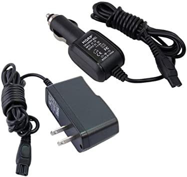 HQRP – Kit cargador de coche + adaptador de alimentación de CA compatible con PHILIPS Norelco 7315 X L, 7325 X L, 7340 X L, 7345 X L, 7349 X L, 7350 X L afeitar/afeitadora Plus posavasos: Amazon.es: Electrónica