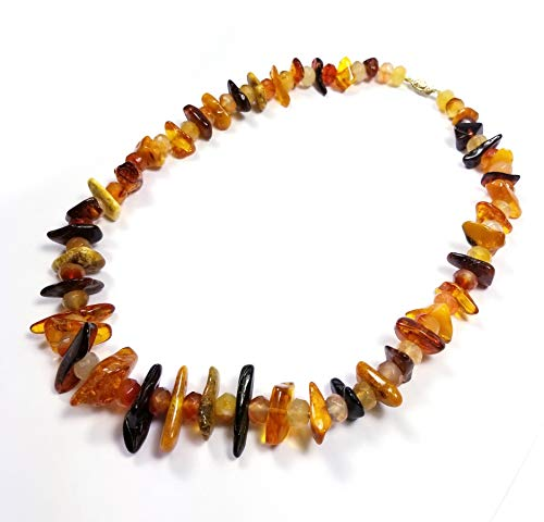 Regalia by Ulti Ramos Baltic Amber Nugget Necklace 14K Yellow ()