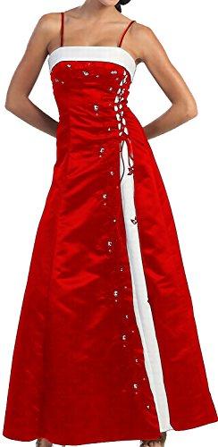 Ballkleid A Brautjungfernkleid Brautmutterkleid Hochzeitsgast Rot Abendkleid Festkleid Linie lang rv4qrxOB