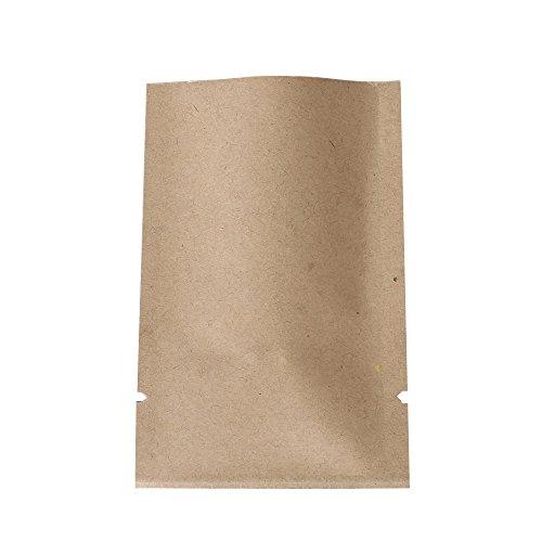 QQ Studio 100 PCS Metallic Mylar Foil Open Top Sealable Bags (6x9cm (2.3x3.5