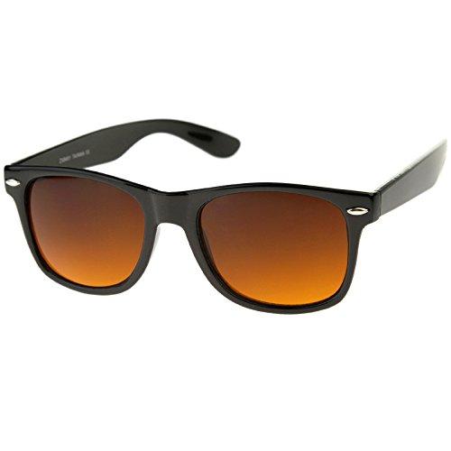 Blue Blocking Driving Wayfarers Sunglasses Amber Tinted Lens 8451