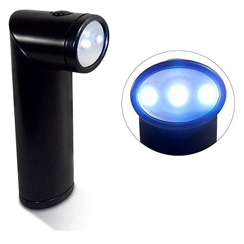 Pivoting Head Flashlight, 3 LEDs, Stand-up Base, 90 Degree Range - Black Case. ()