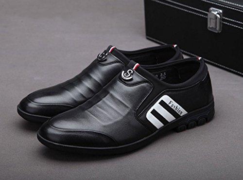 pour Chaussures Black en LEDLFIE Cuir Hommes Ba4wS
