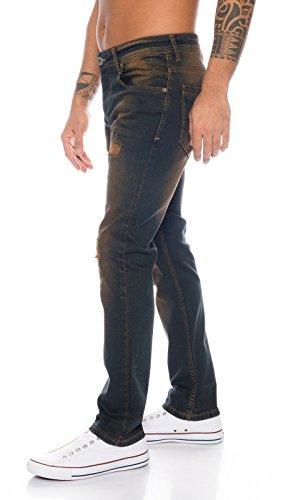 Creek Rc a piedra hombre 329 ROCK W44 Pantalones W29 clásico dirtywash vaqueros elásticos corte la lavado para d1q6xqHz