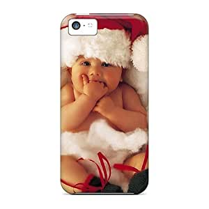 Iphone 5c Case Cover - Slim Fit Tpu Protector Shock Absorbent Case (just In Time For Christmas Baby)