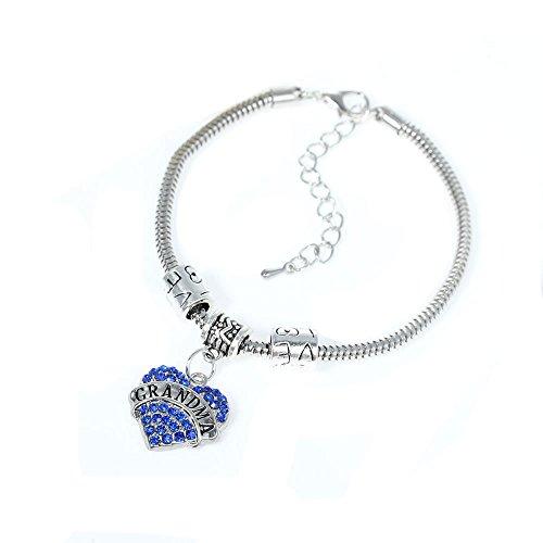Grandma European Bracelet Rhinestones Pendant
