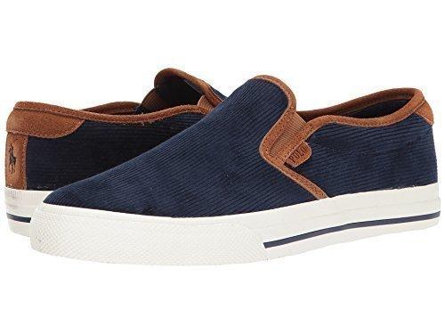 Polo Ralph Lauren Men's Vaughnslipii Sneaker, Navy, 10.5 D US