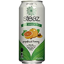Steaz Oragnic Green Tea Grapefruit Honey 16 Oz - Case of 12