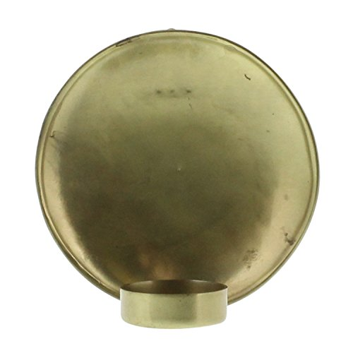Minimalist Vintage Style Round Brass Gold Wall Sconce | 5