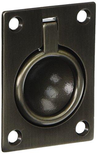Baldwin 0394151 Flush Ring Pull, Antique Nickel -