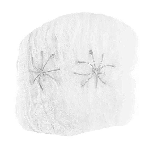 Mochiglory Halloween Bar Party Decoration Cotton Strechable Spider Webs Net Plastic Spiders Five Colors