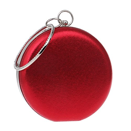 New Red Spherical evening United And Fly Women's The Shoulder Red Bag Color Handbags Candy Banquet Round bag States Trade Europe Wild Foreign Handbags ABw0O