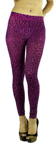 Purple Animal Print Footless Tights in 3 colors.
