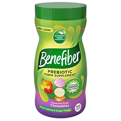 - Benefiber Assorted Fruit Sugar-Free Chewable Tablets, Assorted Fruit, 100Count