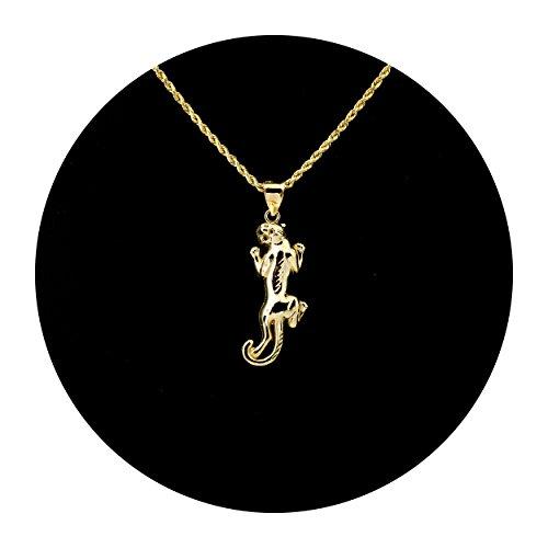MR. BLING 10K Yellow Gold Diamond Cut Crawling Panther Pendant Charm (1.68
