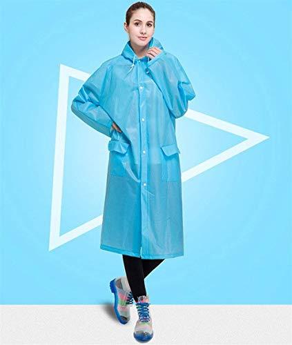 Libre Marca Mode Bolsos Impermeable Los Mujeres Capucha Blau Delanteras Aire Impermeables De Las Con Bolawoo Al UwS1q