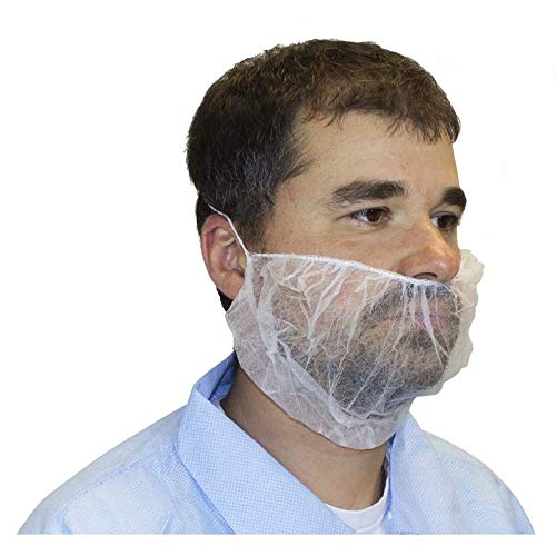 Polypropylene Beard Cover, White (1000 Per Case) by The Safety Zone