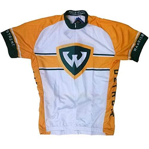 (Adrenaline Promotions NCAA Wayne State University Men's Road Jersey, Large, Black/Green)