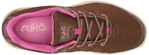 Ryka Frauen Summit Water Repellant Wanderschuh Erdbraun / Nutria / Dahlia Mauve / Doeskin